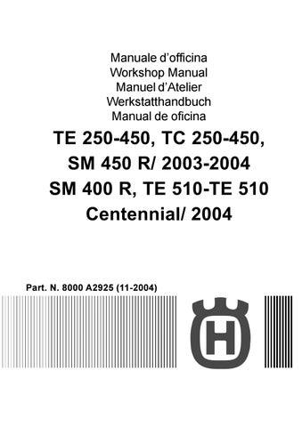 2003 2004 Husqvarna Te Tc 250 450 510 Service Manual By Heydownloads Issuu