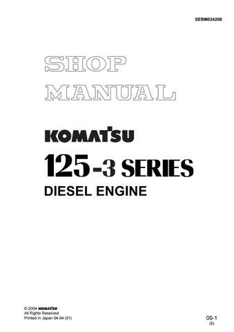 Werkstatthandbuch Komatsu SA6D125E-3 SAA6D125E-3 engine Shop Manual 2001