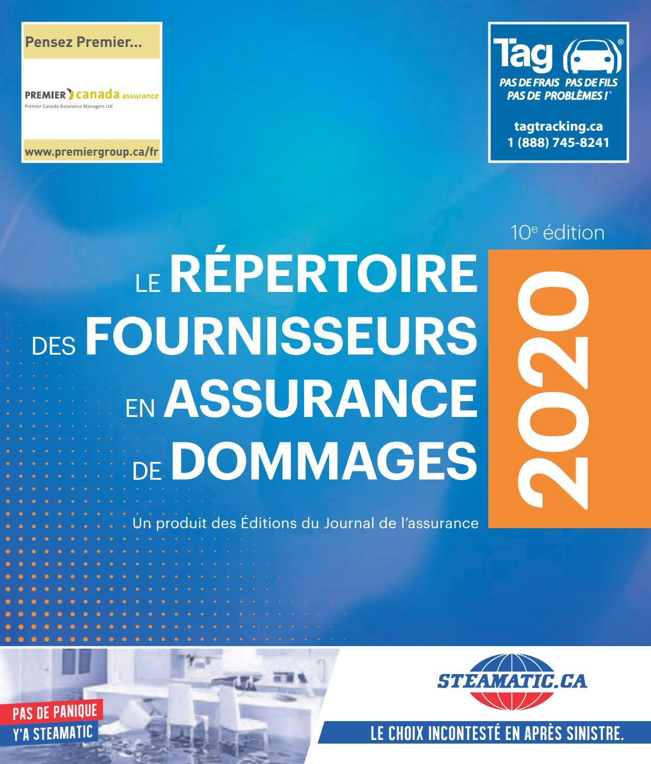 Repertoire Des Fournisseurs En Assurance De Dommages Version Numerique By Journal Assurance Issuu