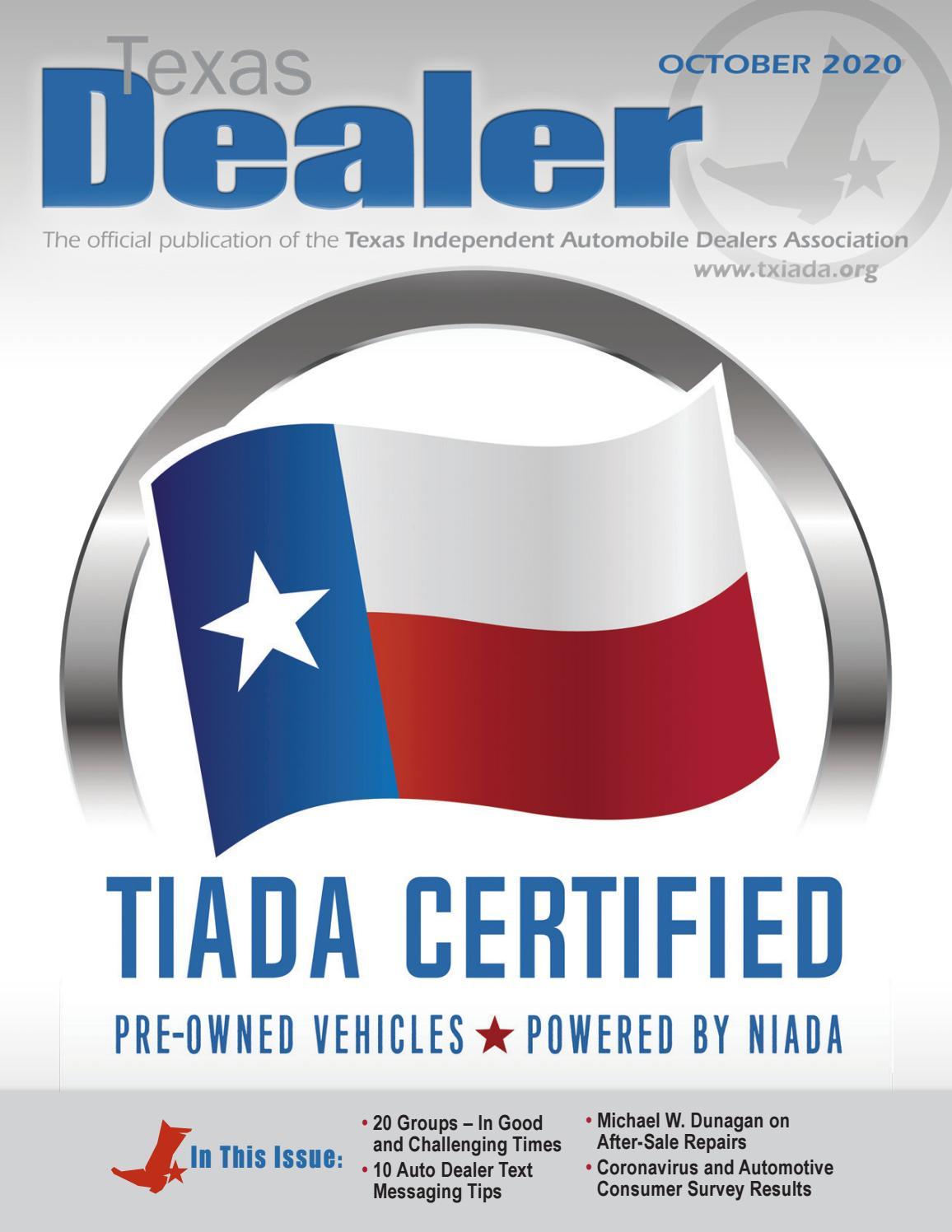 texas dealer october 2020 by texas independent auto dealers association issuu texas dealer october 2020 by texas