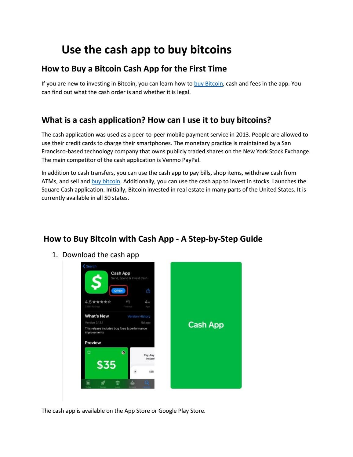 Buy Bitcoin With Cash Application By Asif Javed Issuu