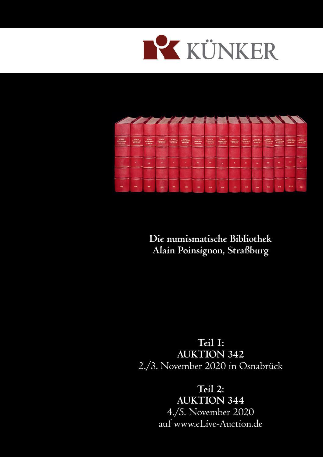 Künker Auktion 20 & 20   Die numismatische Bibliothek von Alain ...