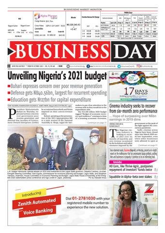 Businessday 09 Oct 2020 By Businessday Issuu