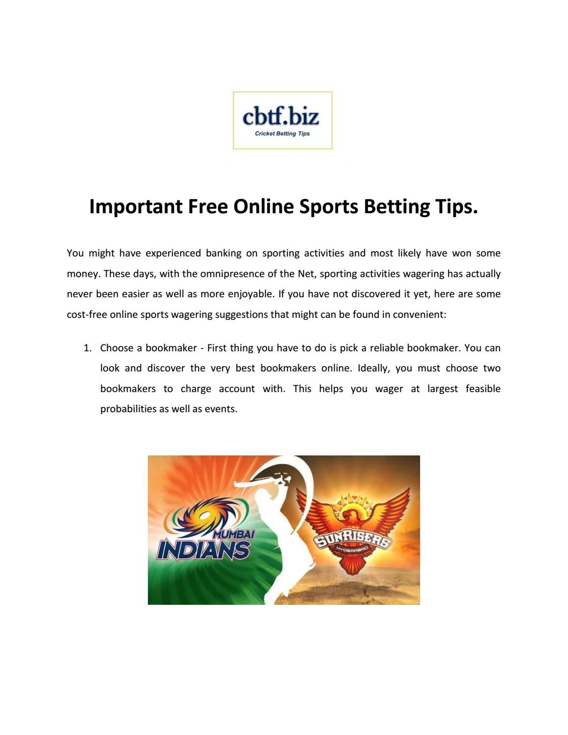 Ipl betting tips page online betting vegas nfl