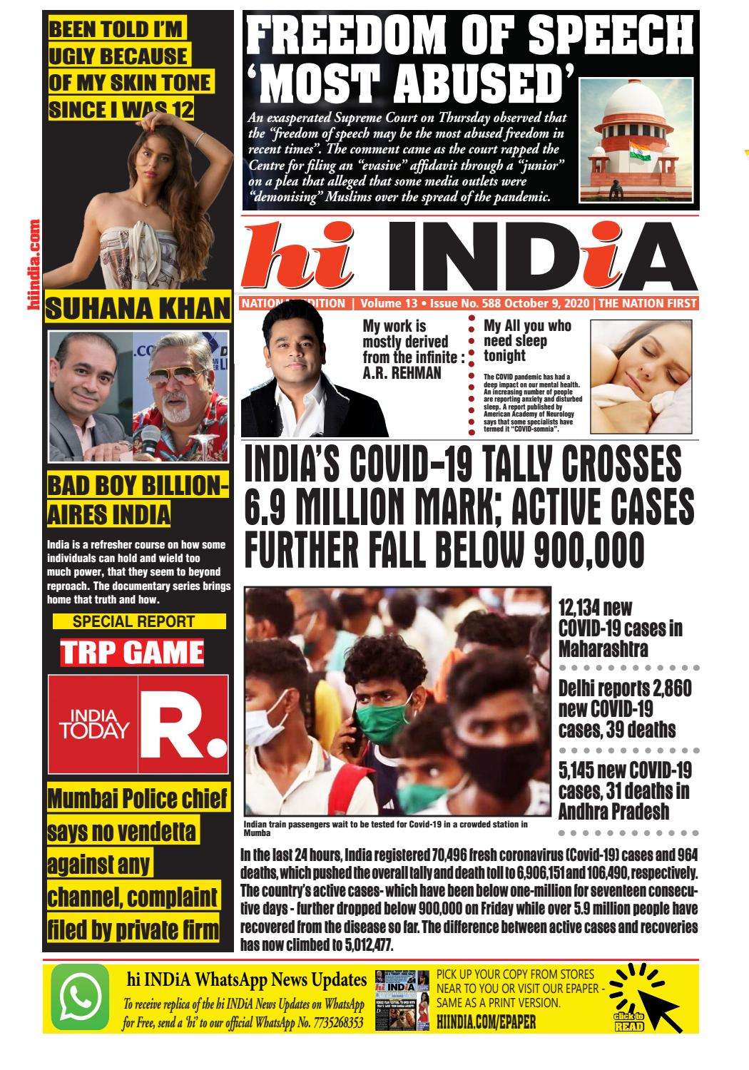 Hi India October 10 2020 The Nation First By Hi India Weekly Issuu