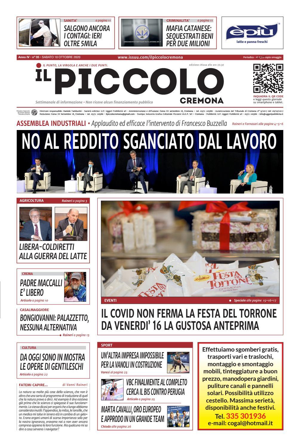 Il Piccolo 35 Del 10 10 2020 By Il Piccolo Cremona Issuu