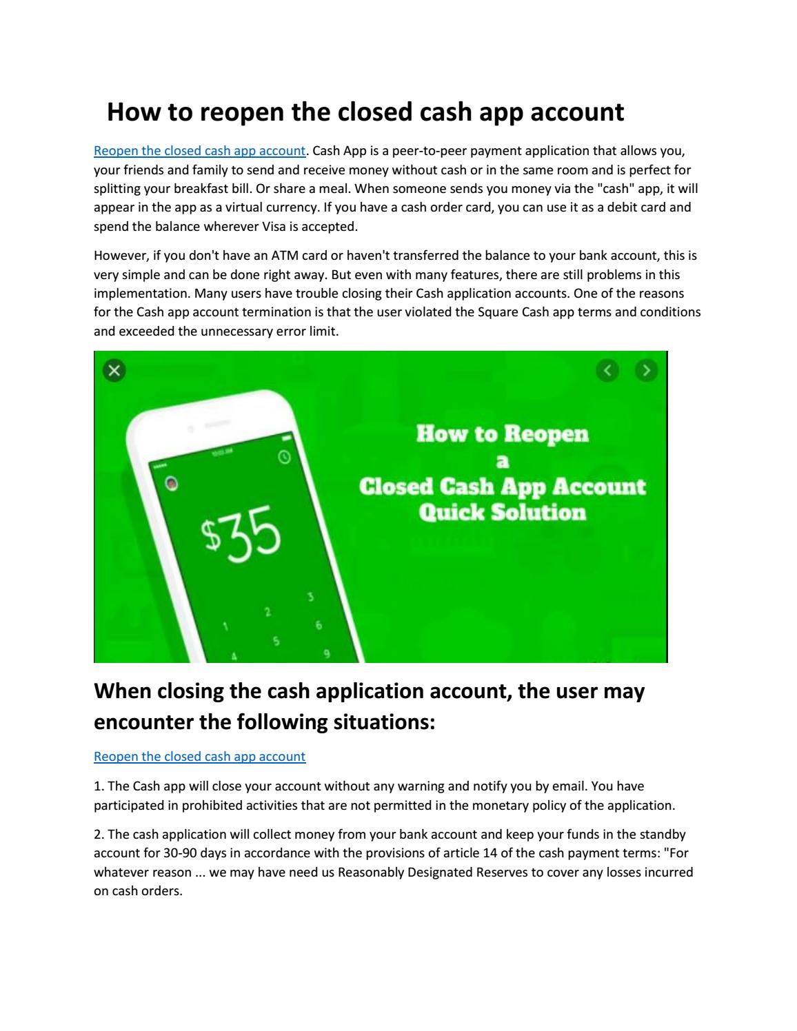 How To Reopen A Closed Cash App Account By Asif Javed Issuu