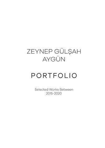 zeynep gulsah aygun portfolio by