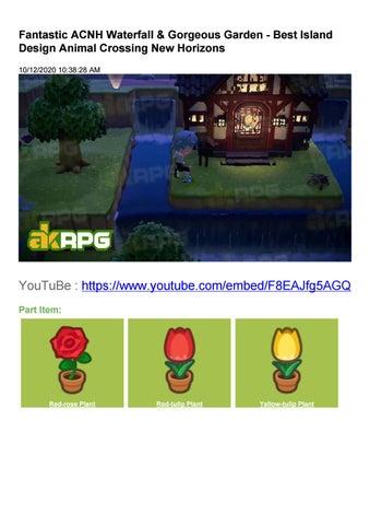 Fantastic Acnh Waterfall Gorgeous Garden Best Island Design Animal Crossing New Horizons By Ritawang1 Issuu