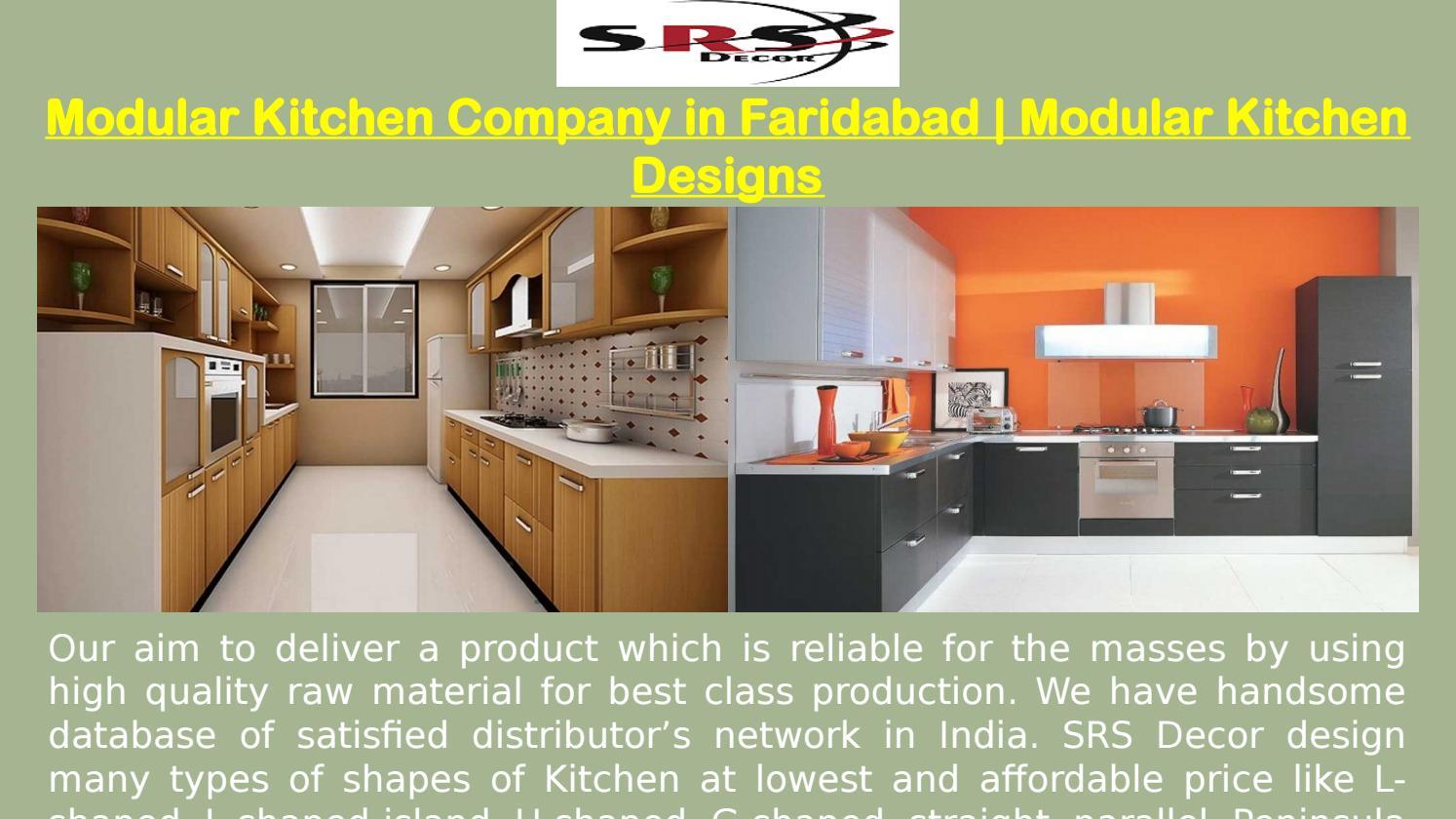 Modular Kitchen Company in Faridabad   Modular Kitchen Designs by ...