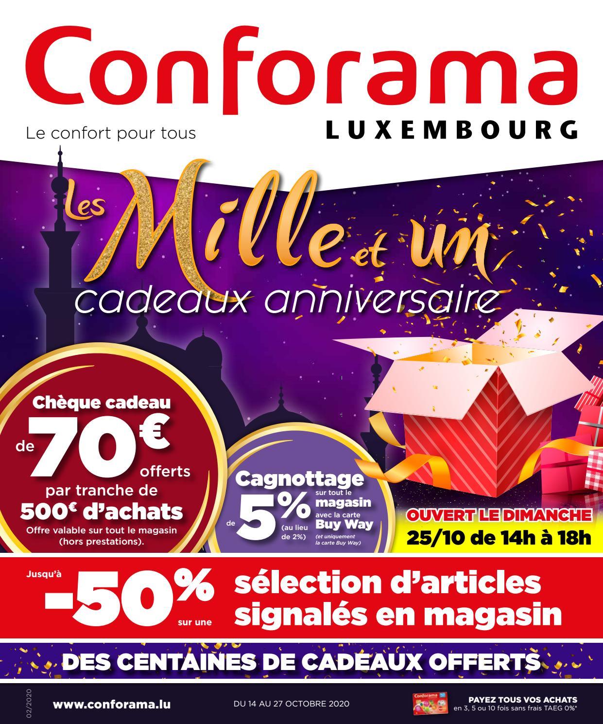 Doc02 Les Mille Et Un Cadeaux Anniversaire By Conforama Luxembourg Issuu