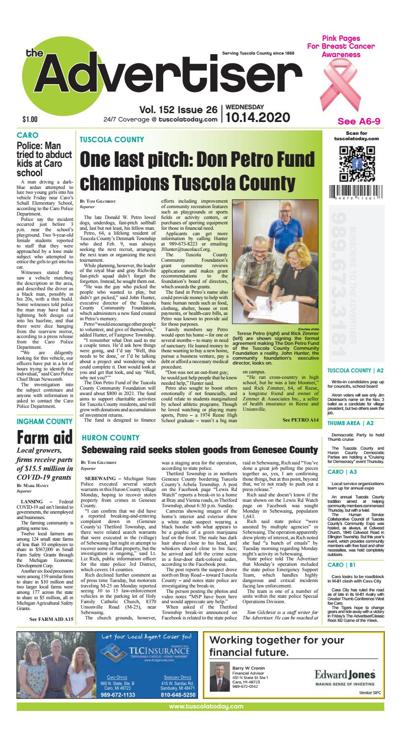 Christmas Vacation 2020 Fro Challenger School Howel Mi TCA 10 14 20 by Tuscola County Advertiser   issuu