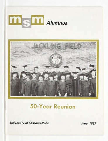 Missouri S T Magazine June 1987 By Missouri S T Library And Learning Resources Curtis Laws Wilson Library Issuu