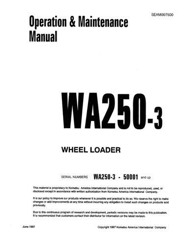 Komatsu Wa250 3 Wheel Loader Operation Maintenance Manual Sn 50001 Up Komatsu Wa250 3 Pdf By Heydownloads Issuu
