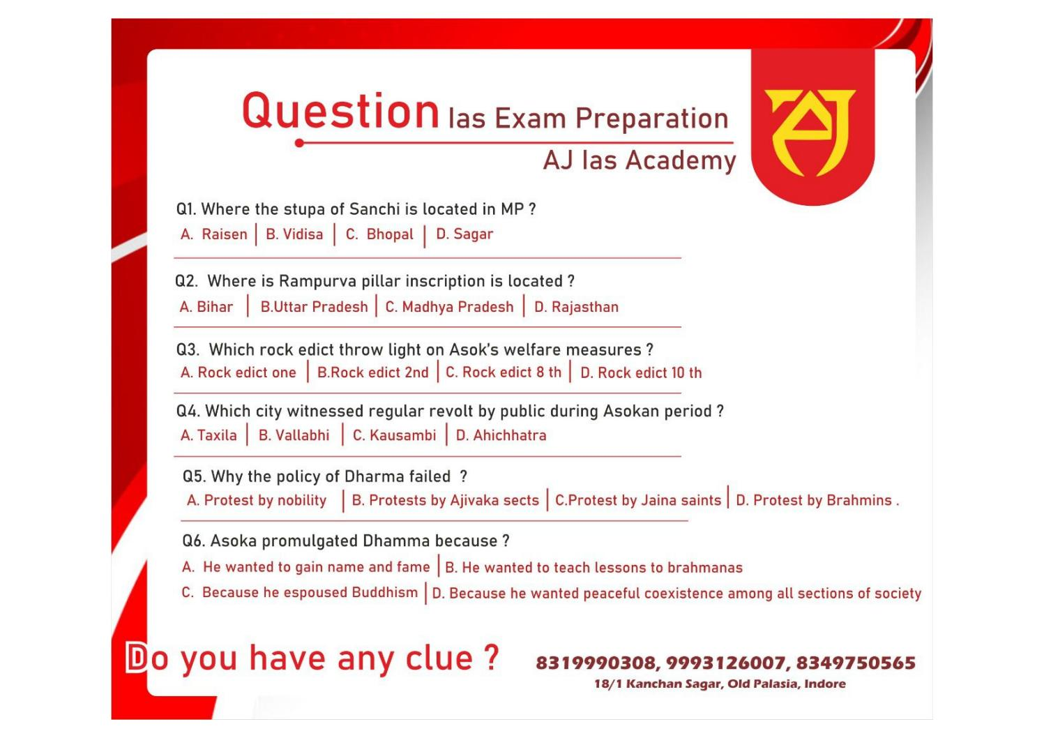 Questions of Ias exam preparation by Aj IAS Academy   issuu
