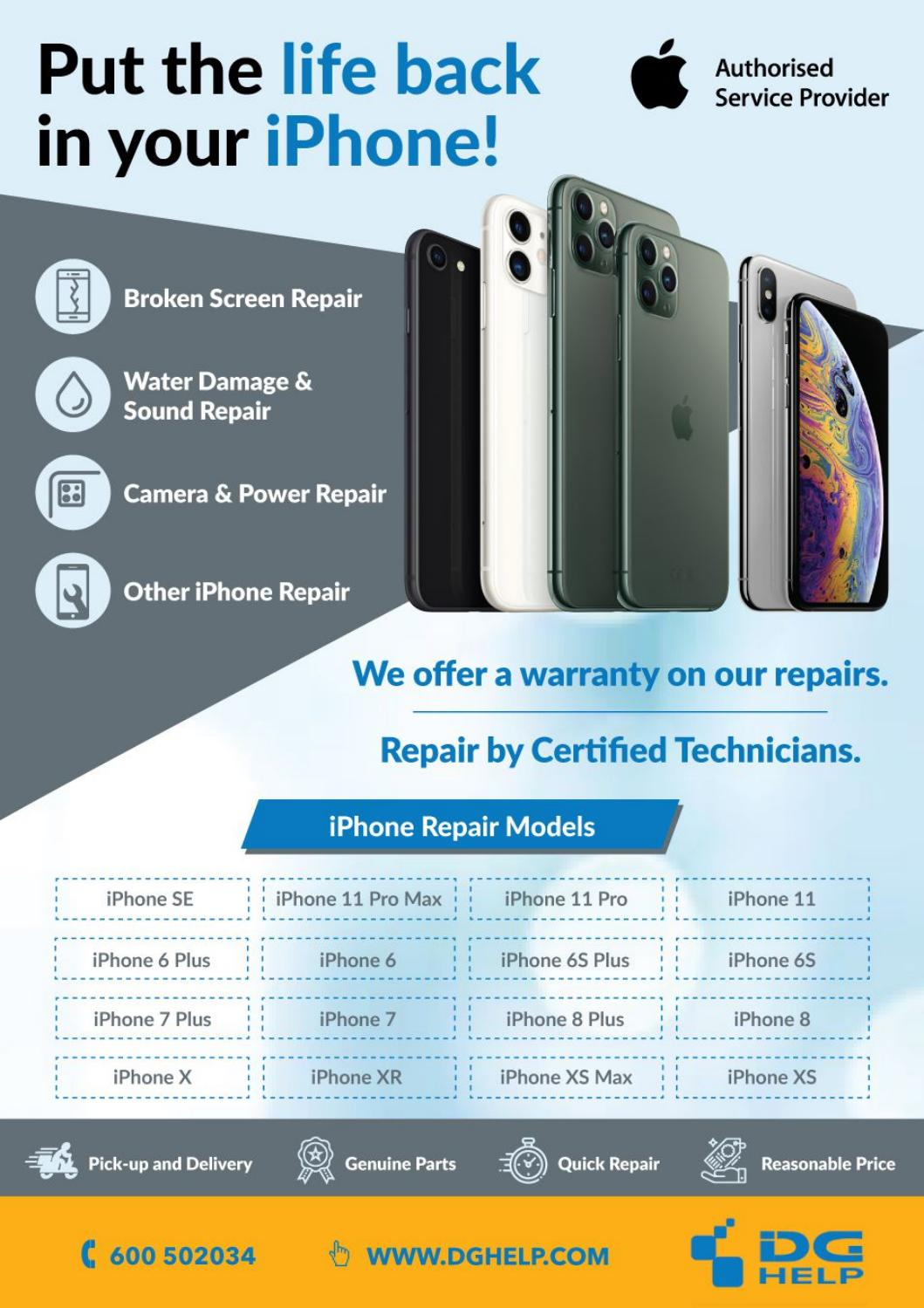 Apple Iphone Screen Repair Replacement By Dg Help Issuu
