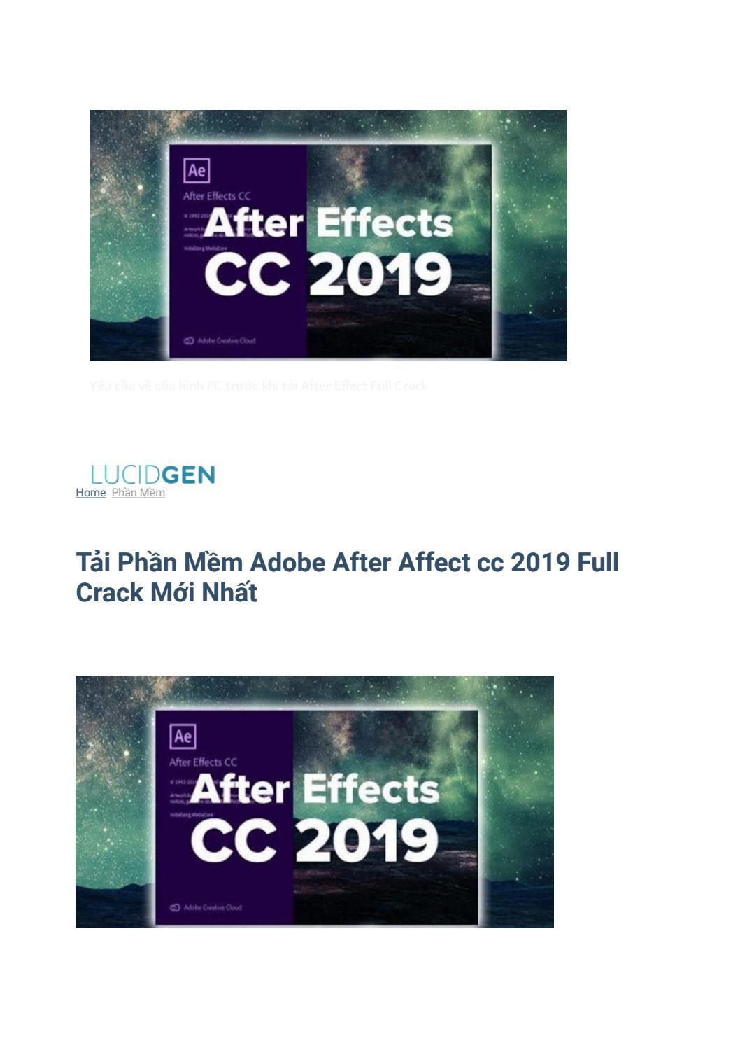 Tải Phần Mềm Adobe After Affect Cc 2019 Full Crack Mới Nhất By Purdydaryl571 Issuu