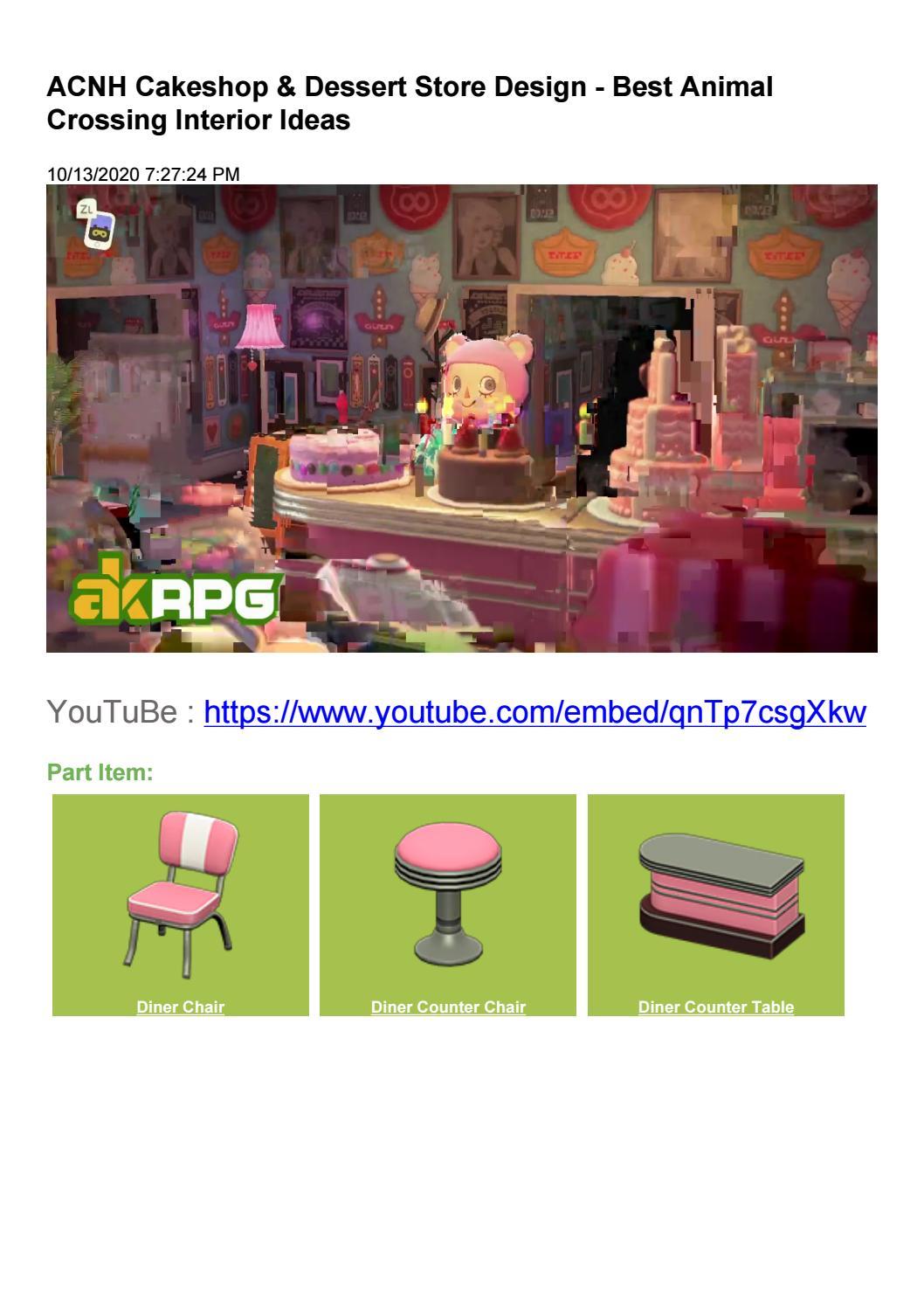 Acnh Cakeshop Dessert Store Design Best Animal Crossing Interior Ideas By Akrpg Issuu