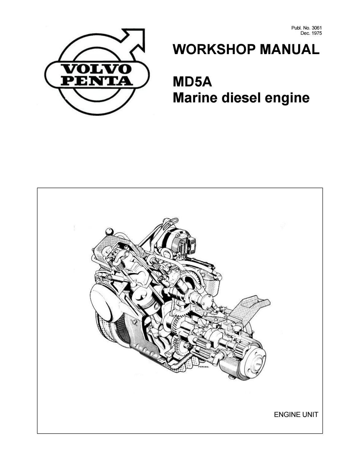 Volvo Penta Md5a Marine Diesel Engine Service Repair Workshop Manual by  heydownloads - issuu | Volvo Marine Camshaft Position Sensor Wiring Diagram |  | Issuu