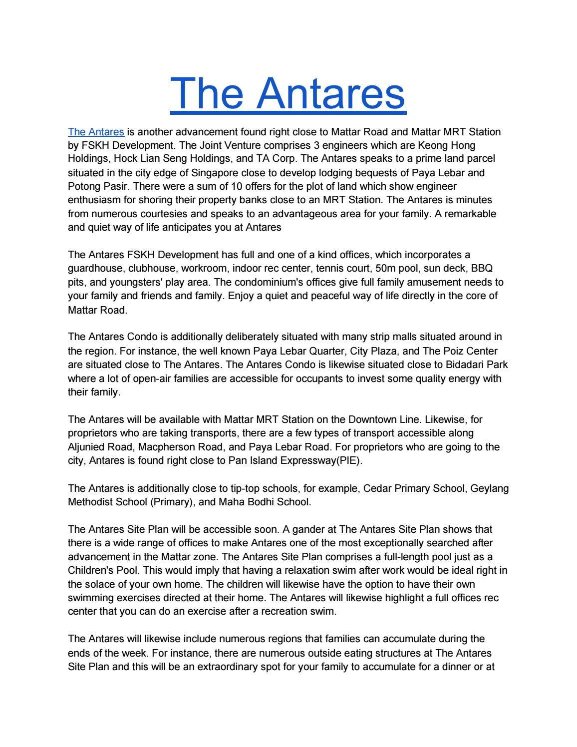 The Antares By Enamul Haque Issuu