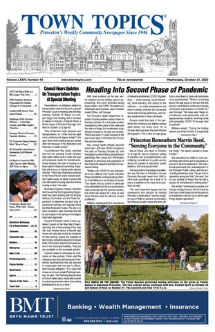 Town Topics Newspaper October 21 2020 By Witherspoon Media Group Issuu