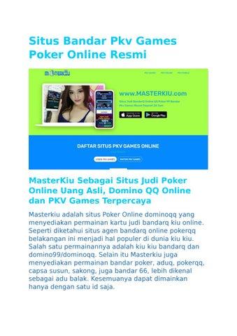 Situs Judi Qq Master Domino 99 Bandar Pkv Poker Online Terpercaya By Game Judi Online Issuu