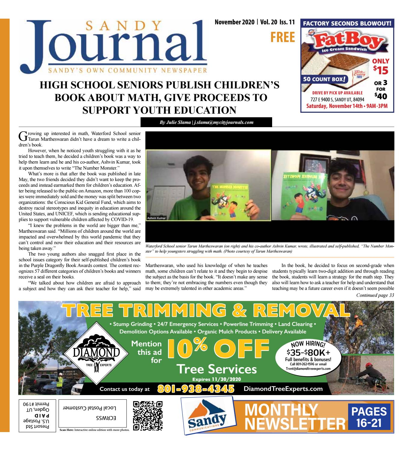 Christmas Tree Pickup Sandy Utah 2020 Sandy City Journals | November 2020 by The City Journals   issuu