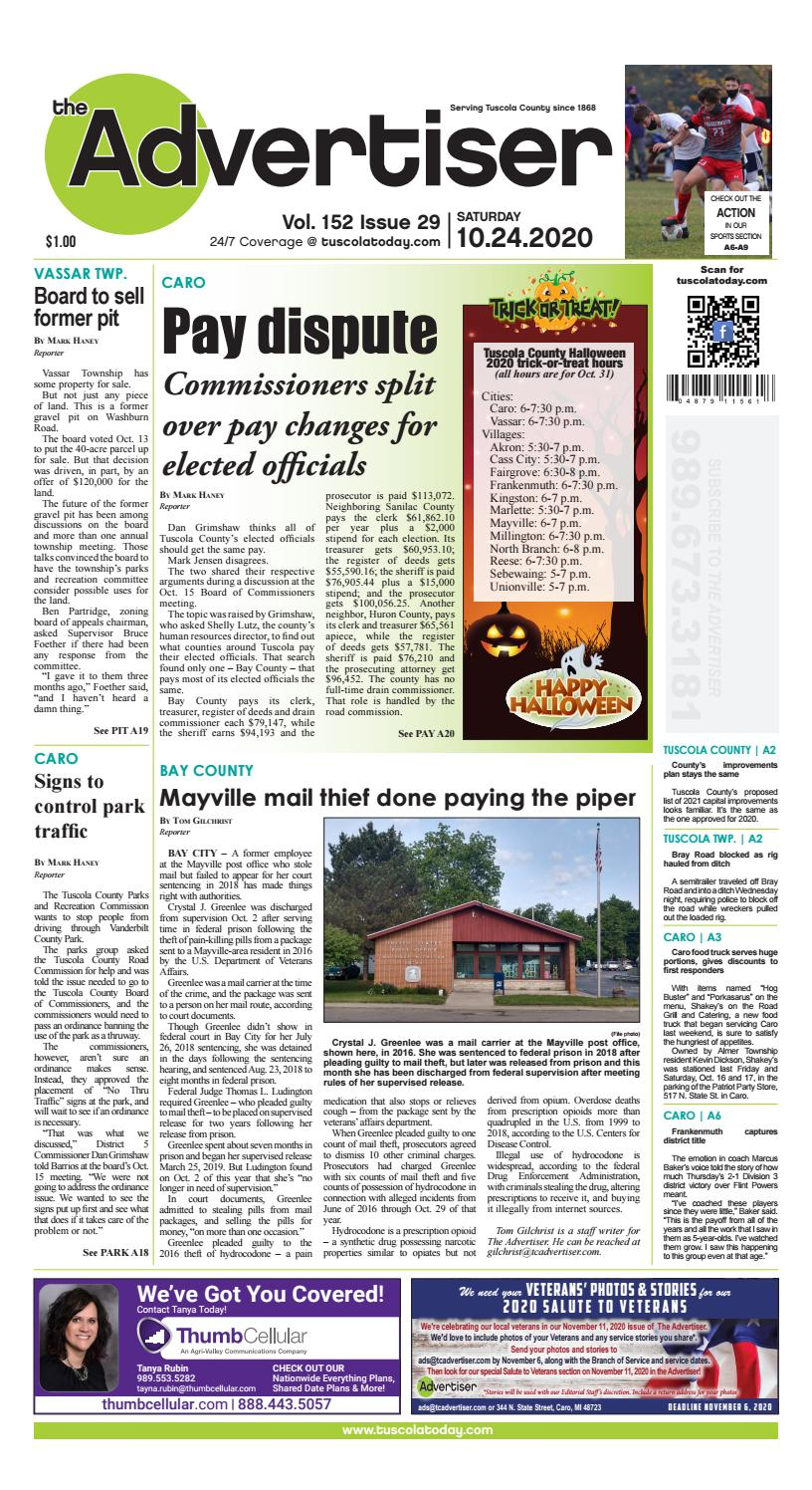 Tca 10 24 20 By Tuscola County Advertiser Issuu Lock haven — the information in courthouse roundup is obtained from public records. tca 10 24 20 by tuscola county