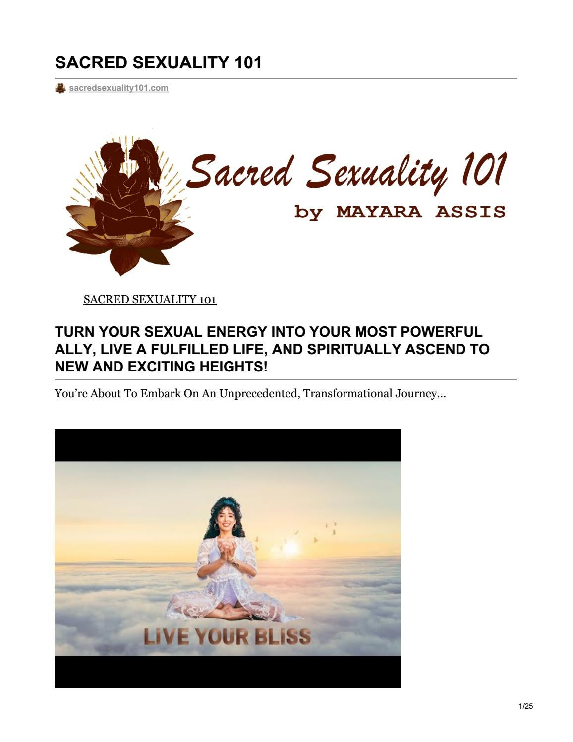 Sacred spot massage video