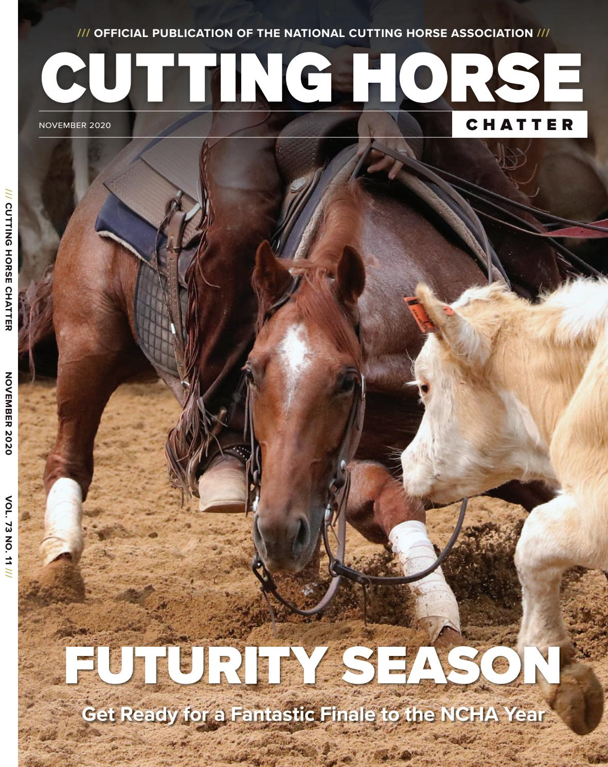 NCHA Cutting Horse Chatter • November 2020 • Vol. 73. No. 11 by