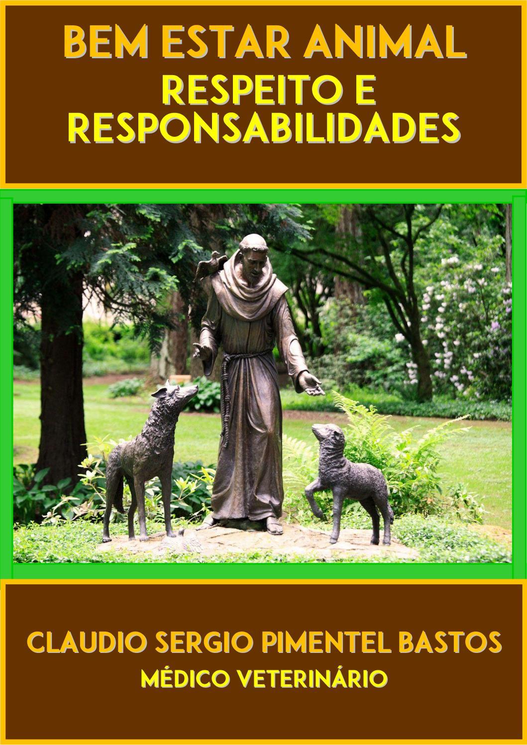 Cartilha de Bem Estar Animal  Respeito e Responsabilidades by ...