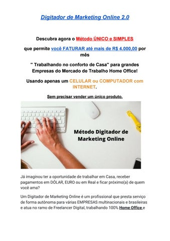 digitador de marketing online existe