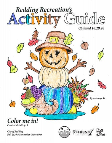 Fall Activity Guide 2020 10 29 20 Update By Redding Recreation Issuu
