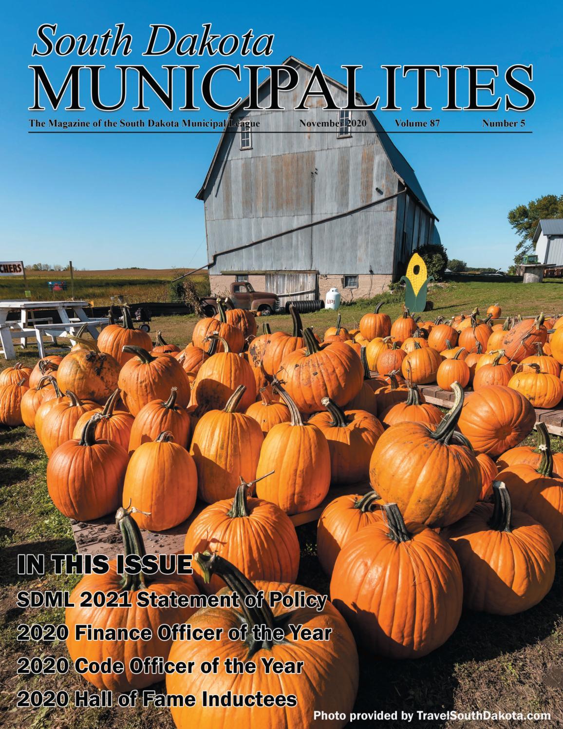 South Dakota Municipalities   November 2020 by sdmunicipalleague