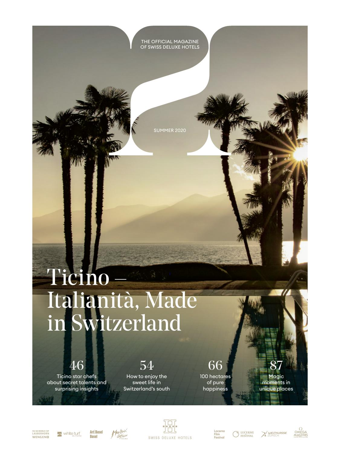 H Magazine Summer 2020 By Swiss Deluxe Hotels Issuu