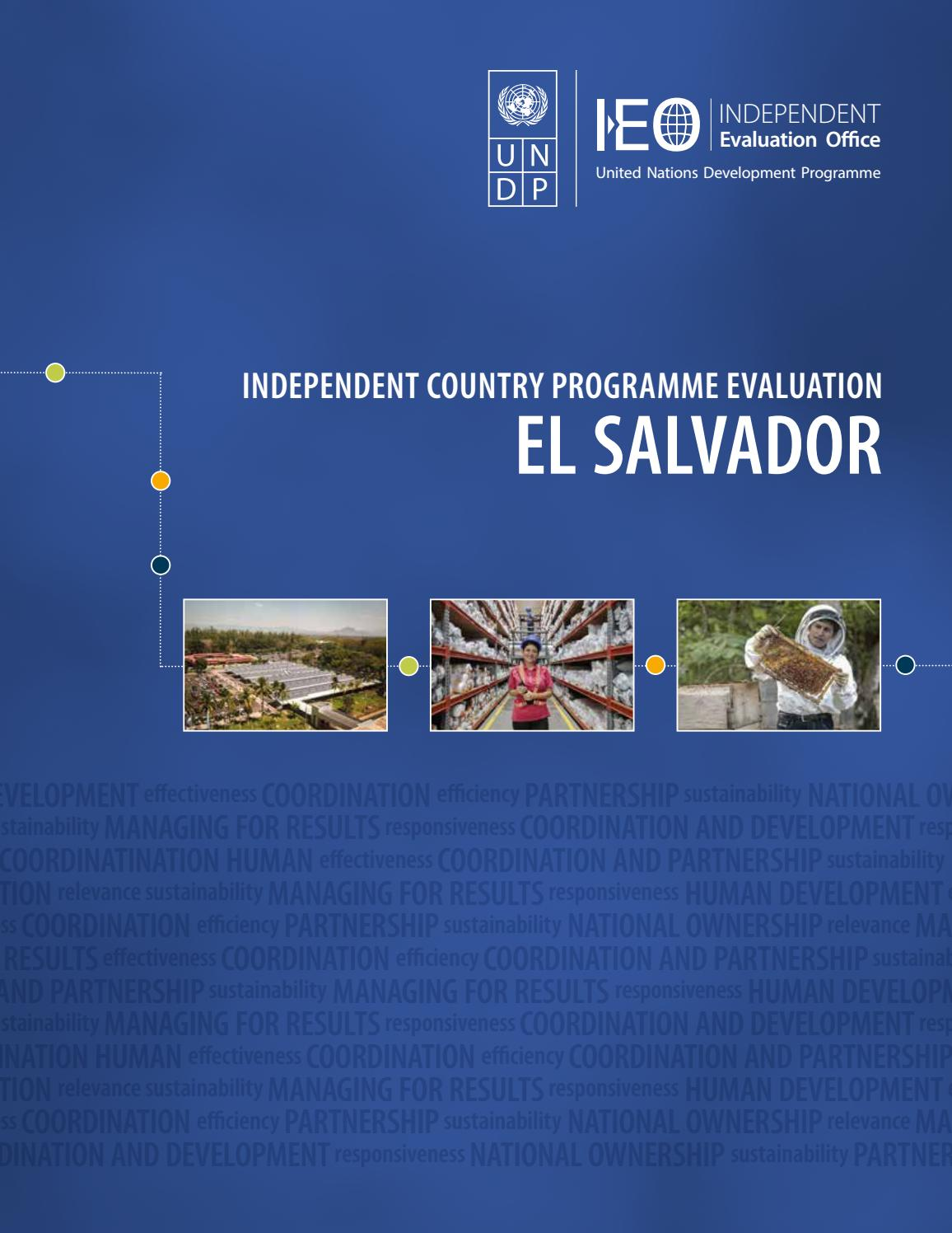 Icpe El Salvador By Undp Independent Evaluation Office Issuu