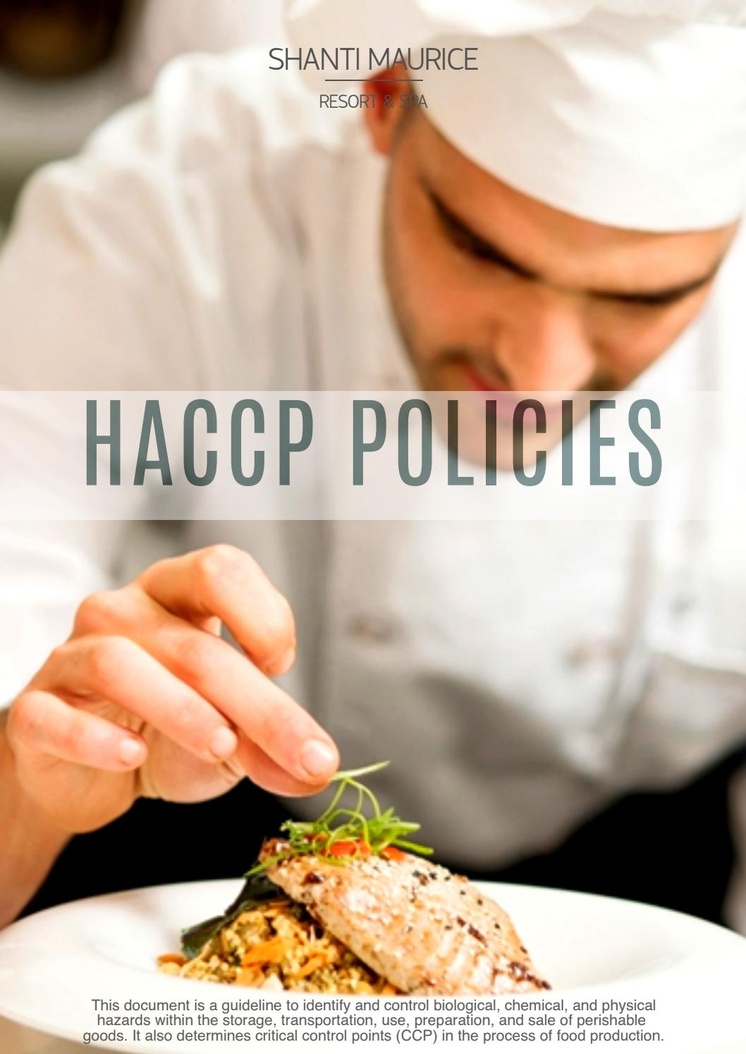 Ops Cov7 Haccp Policies By Outsource Options Issuu