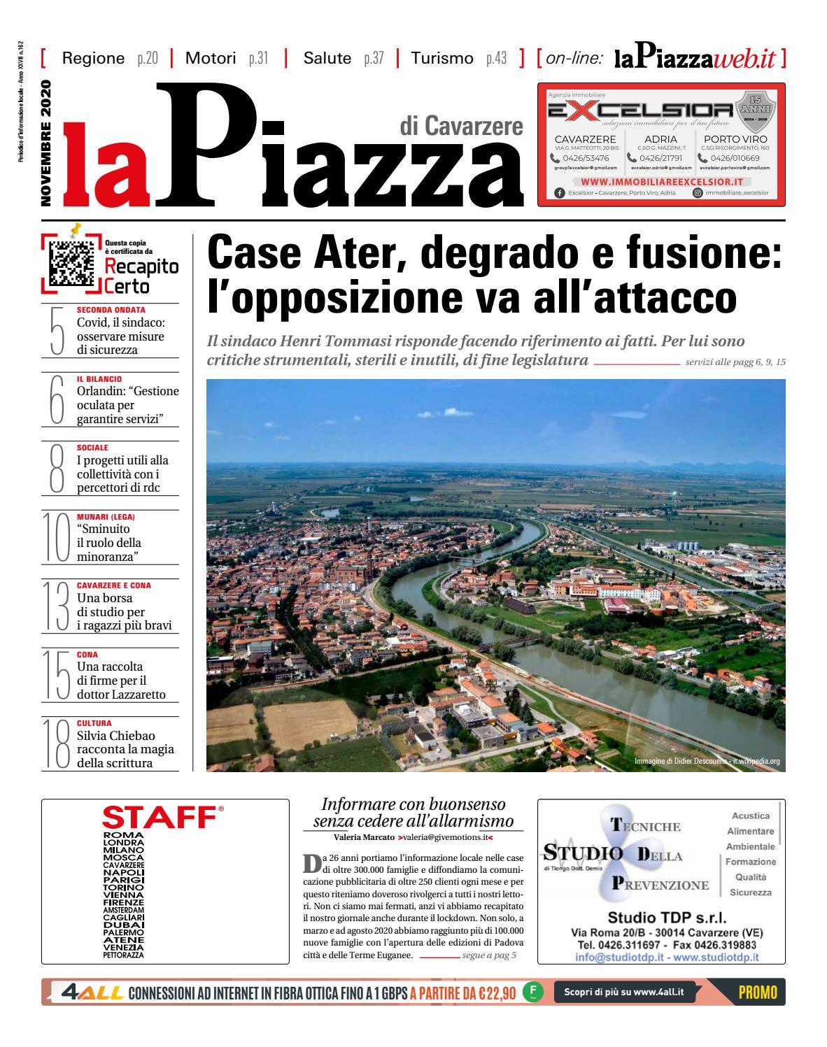 La Piazza Di Cavarzere Nov2020 N162 By Lapiazza Give Emotions Issuu
