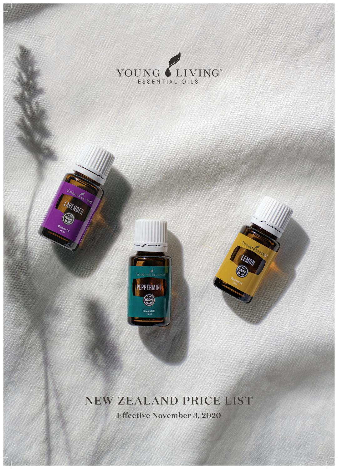 New Zealand Product Price List By Young Living Essential Oils Australia New Zealand Issuu