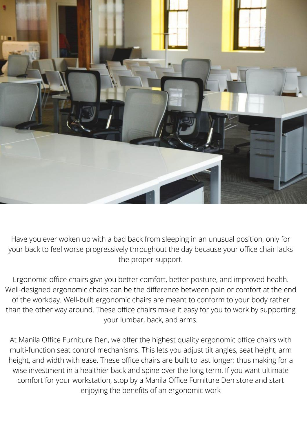 Choose An Adjustable Office Chair By Kelly Alonzo Issuu