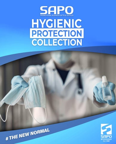 Sapo Giveaways. Κατάλογος «Hygienic Protection Collection 2021»