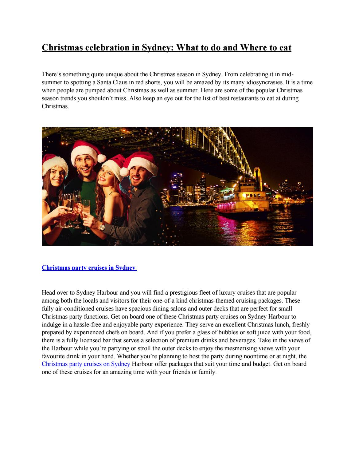 Christmas Party Ideas Ideas In Sydney Things To Keep In Mind By Eliza Cumberbatch Issuu