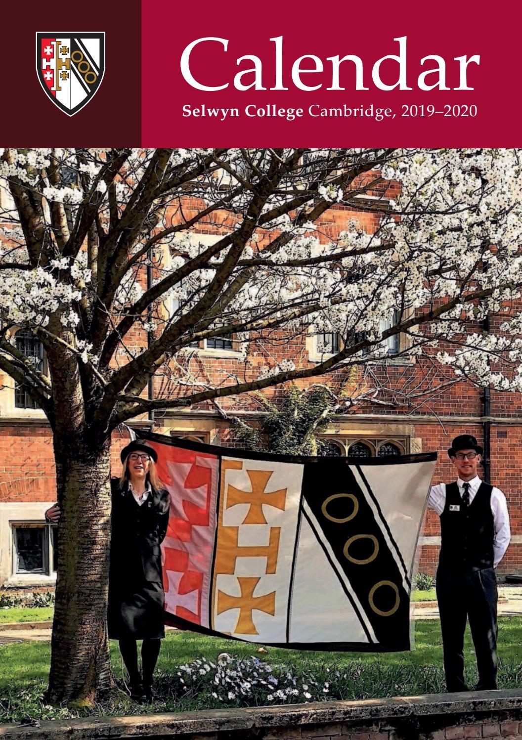 Selwyn College Calendar 2019 2020 By Selwyn Alumni Issuu