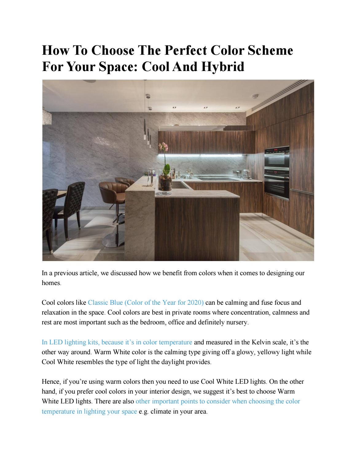 How To Choose The Perfect Color Scheme For Your Space Cool And Hybrid By Eshine Issuu
