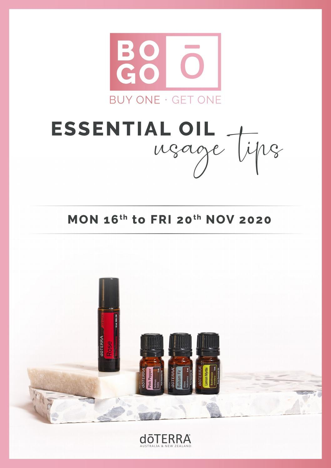 Doterra Aunz November 2020 Bogo Rose Touch Pink Pepper Balsam Fir Lemon Myrtle By Doterraaunz Issuu