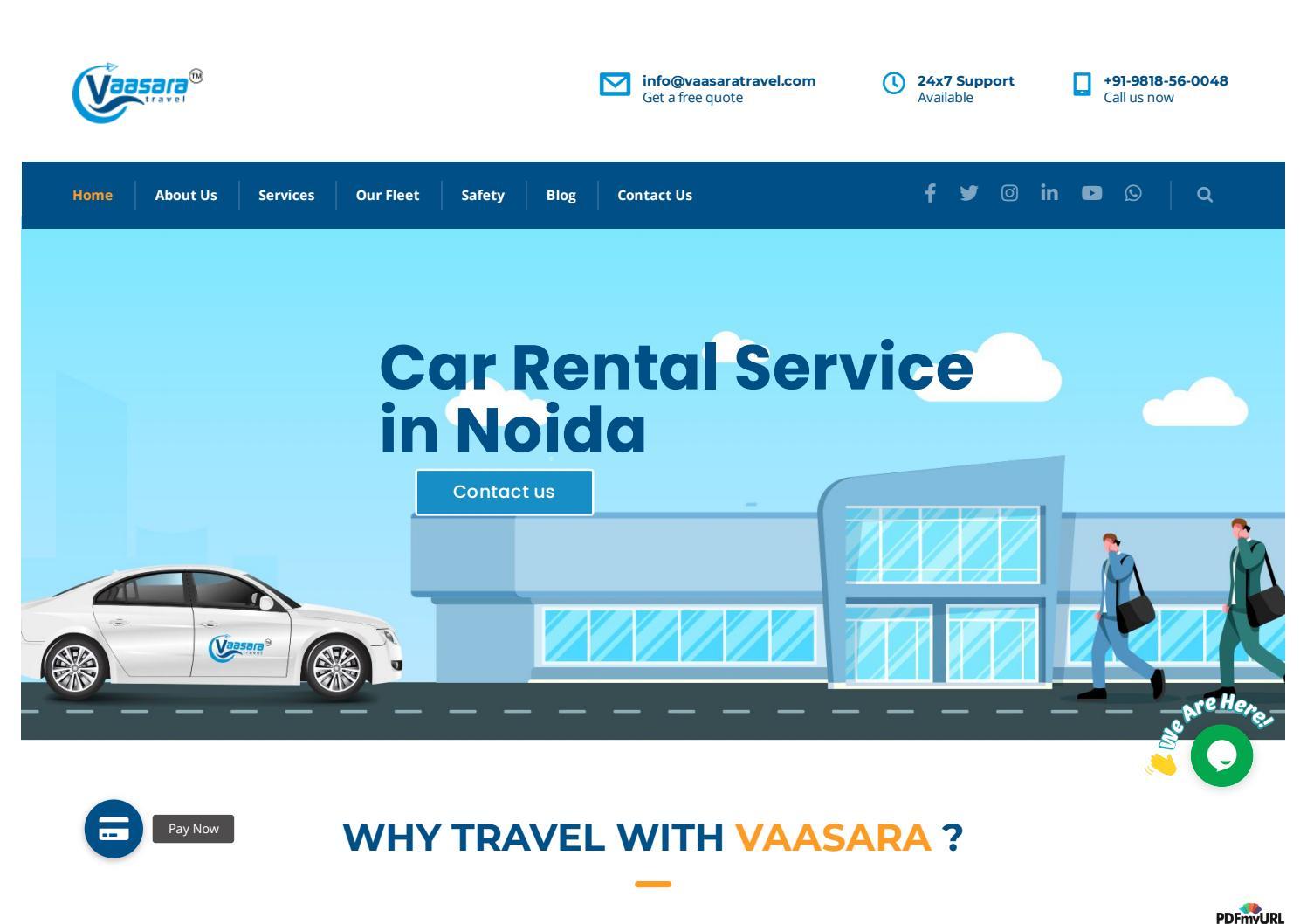 Car Rental Service In Noida Corporate Car Rental Service By Vaasara Travel Issuu