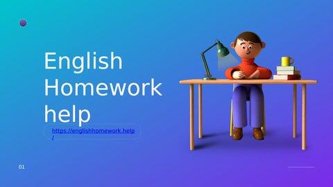 Homework help online english