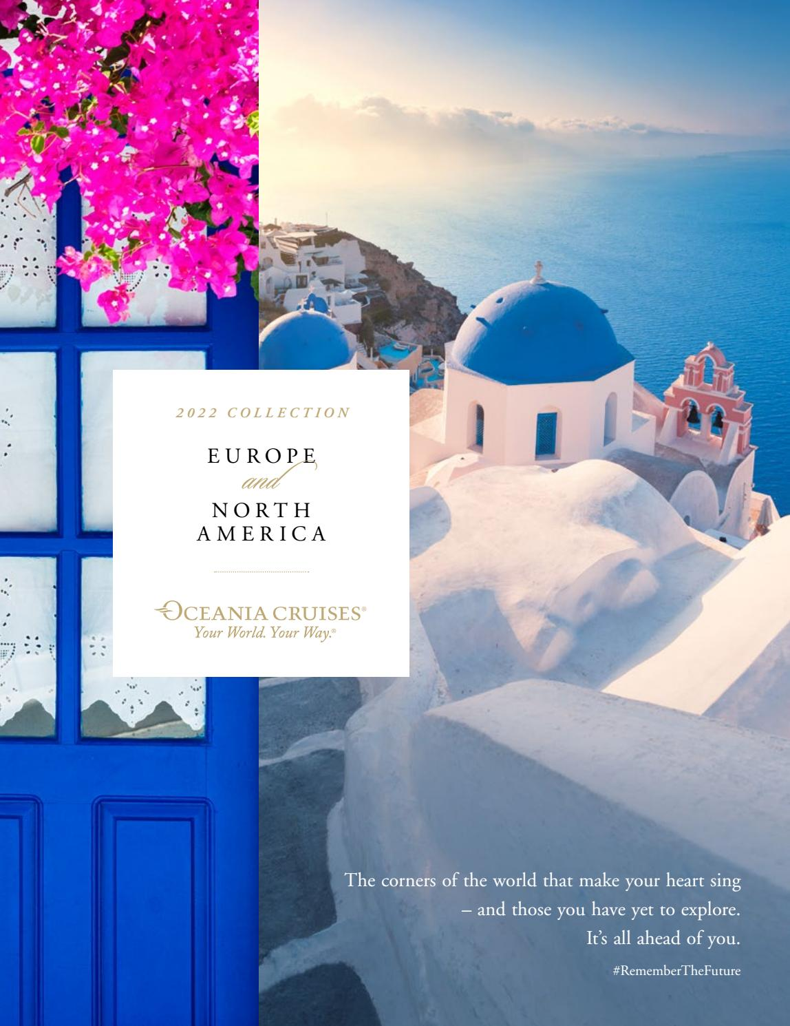 Oceania Cruises 2022 Collection Europe And North America Gocruise By Fred Olsen Travel Issuu