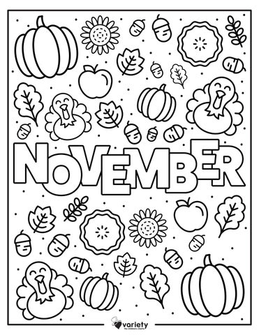 Fall Into Fun November Coloring Page By Variety The Children S Charity Of St Louis Issuu