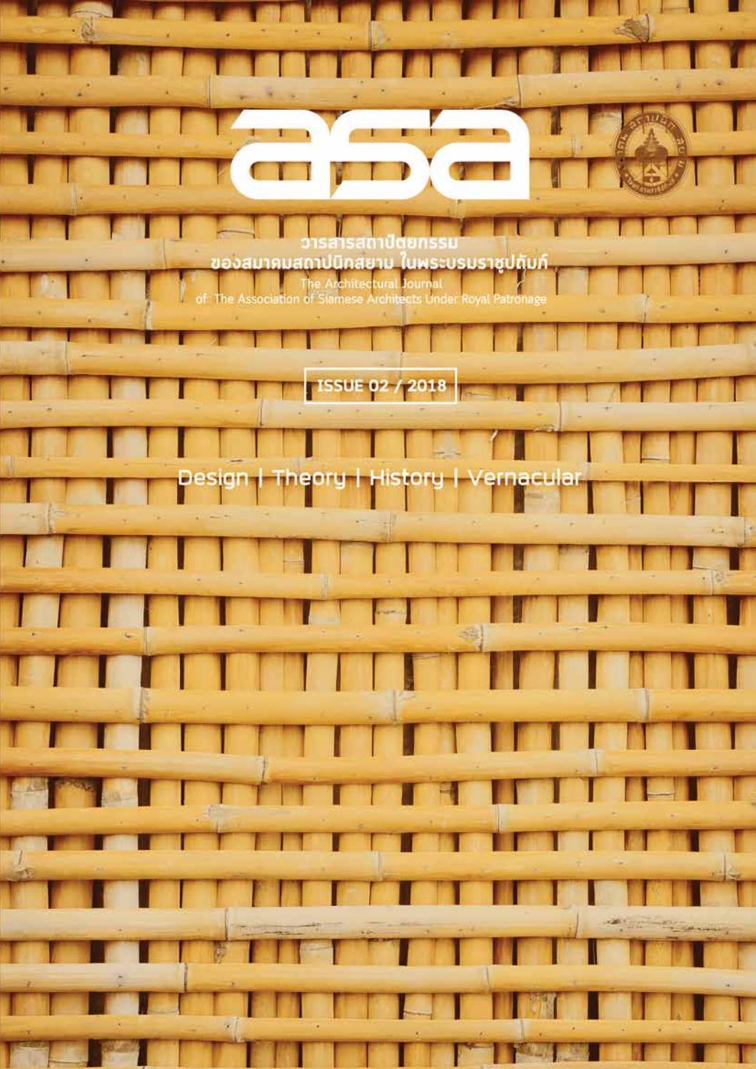 Asa Academic Issue 02 2018 By Werapon Chiemvisudhi Issuu